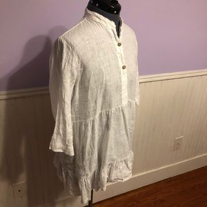 Logica 100% Linen Tunic Top|Made In Italy|Size S